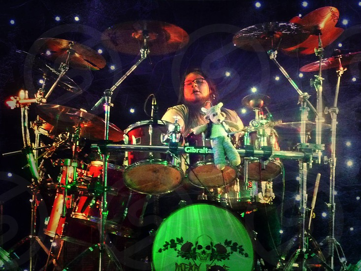 Christopher Shaw drummer of Mean Bone..  Hard Rock Band from Northern Ireland photo