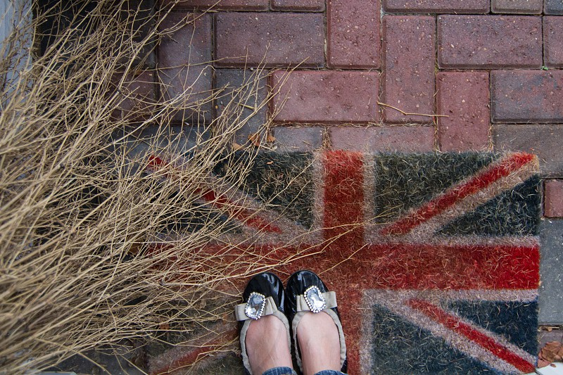 Shoe selfie on a Union Jack doormat - Textures  photo