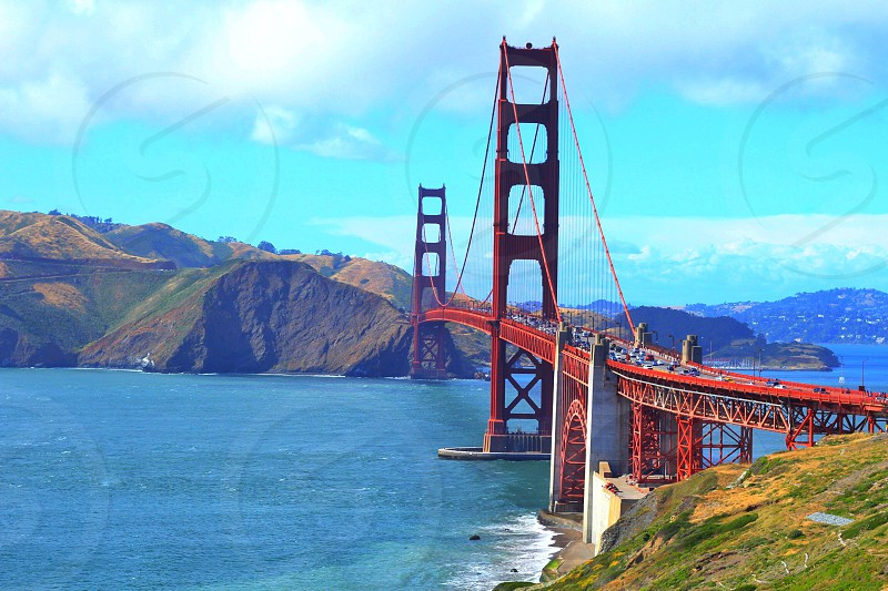 Golden Gate Bridge. Beautiful day hiking the lands end trail photo