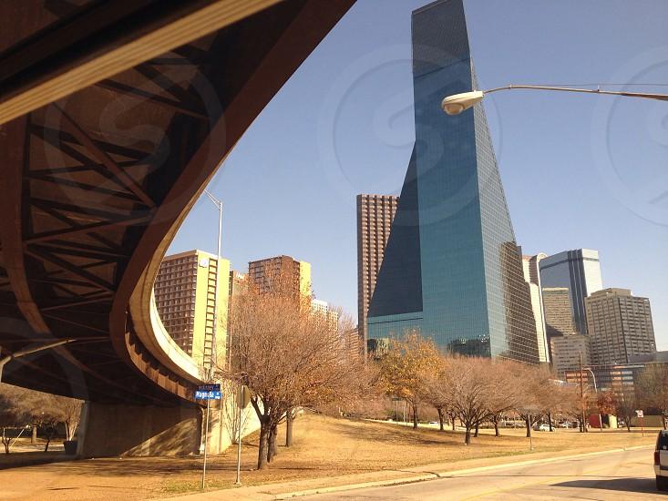 Dallas Texas lone star state city under highway bridge photo