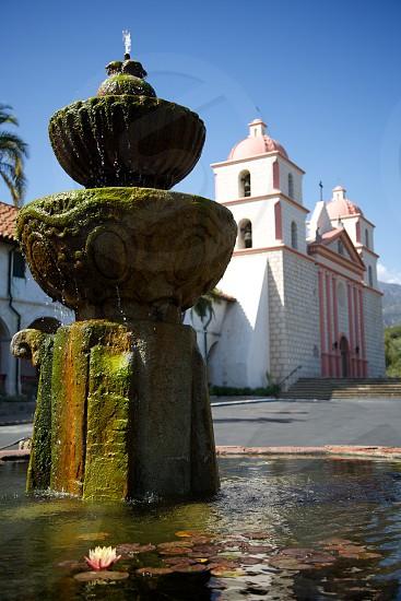 green fountain view photo