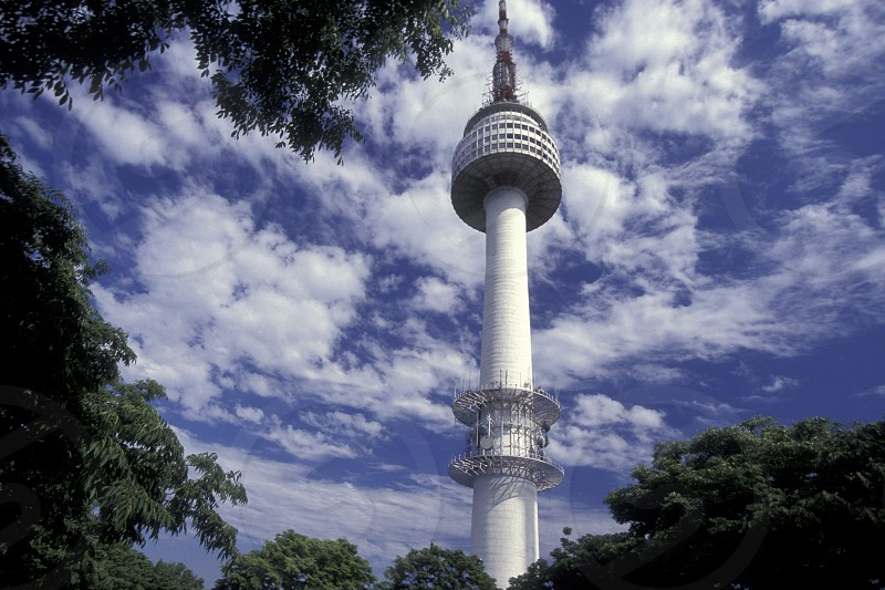 the Seoul Tower in the city of Seoul in South Korea in EastAasia.  Southkorea Seoul May 2006 photo