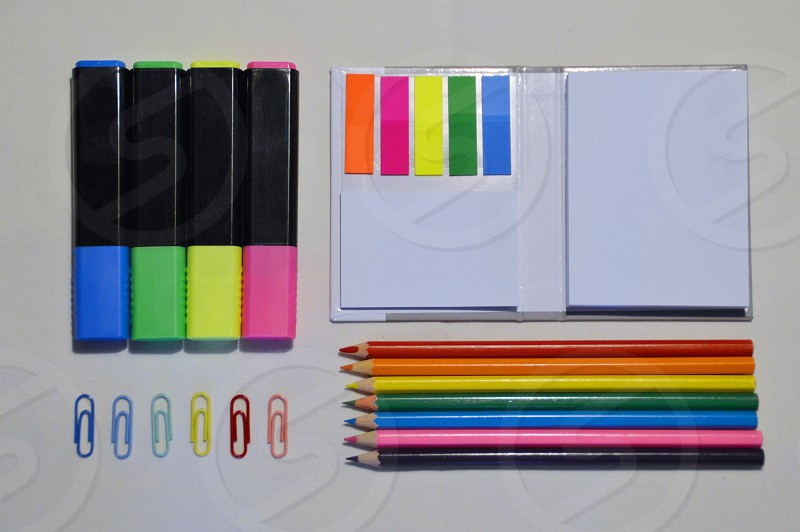 assorted coloring pen near white dry erase board photo