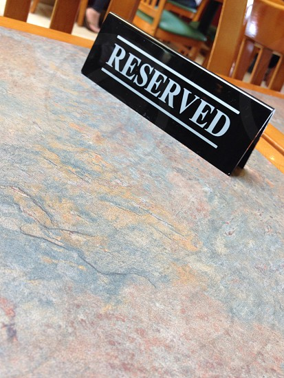 Reserved table unreserved for me. photo