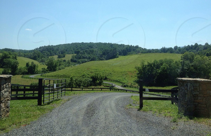 Country farm road  photo