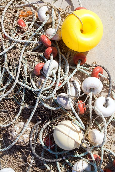 fishing professional tackle for fisherboats like buoys and nets photo
