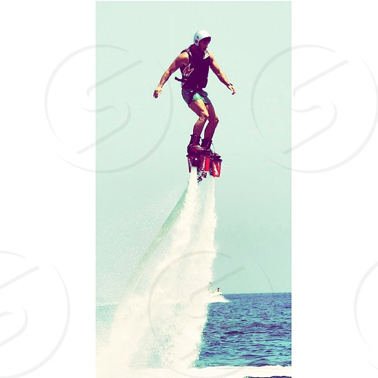 Flyboarding Cyprus summer photo