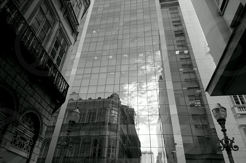 building architecture style old and new street downtown city urban windows glass geometry light luminoussunlight shadow contrast sunlight design history urban history  photo