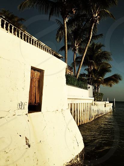 concrete walls near ocean photo