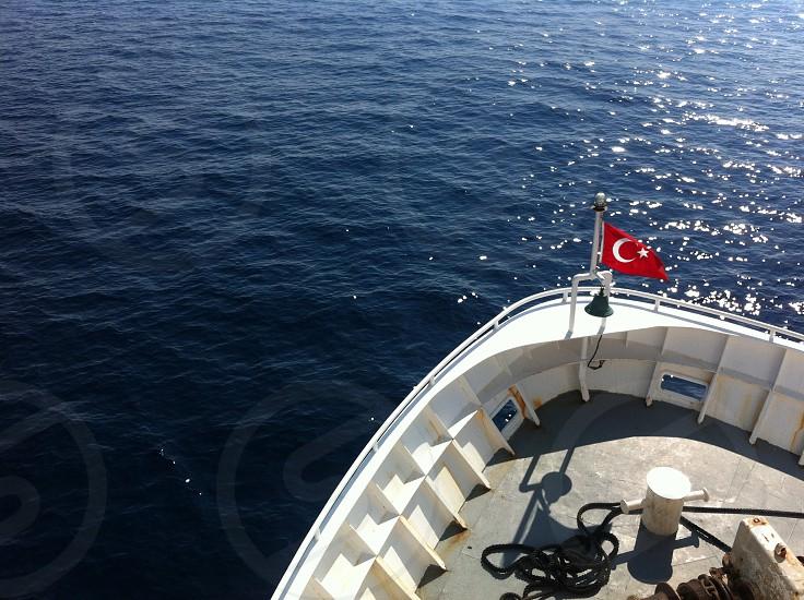 Blue calm sea photo
