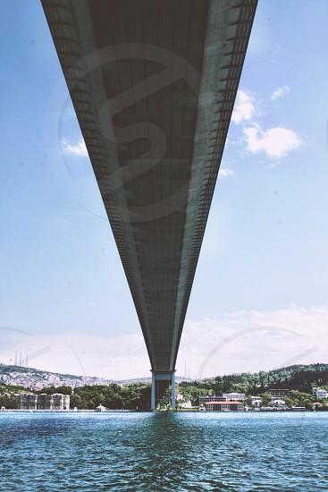 Under the bridge of Bosporus istanbul photo