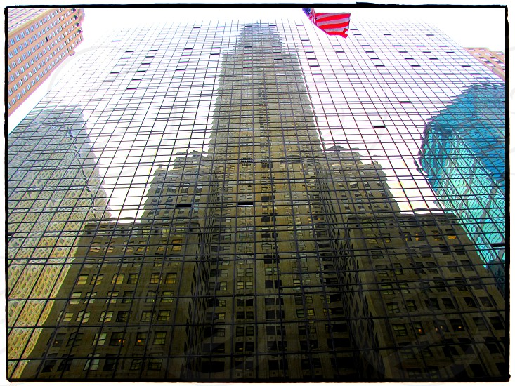 Chrysler building reflected in building opposite. New York.  photo