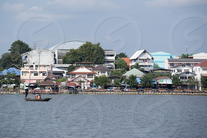 the city centre at the Lake Phayaol in the city of Phayao in North Thailand. photo