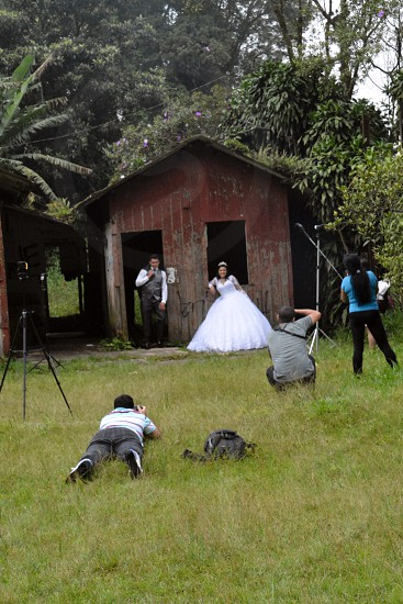 Just married Paranapiacaba Santo André SP Brazil. photo