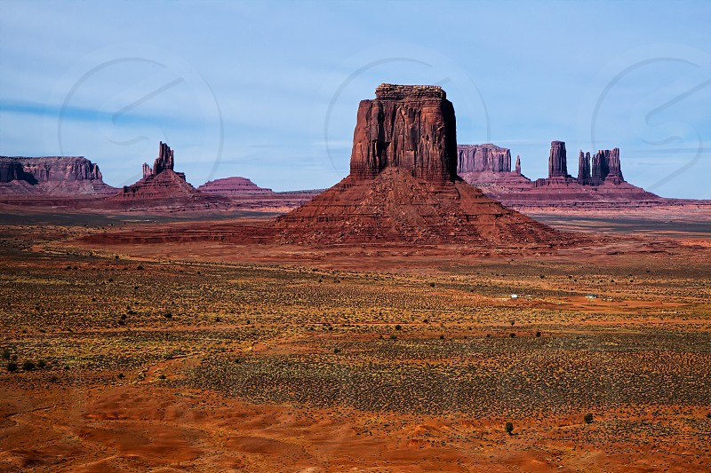 Scenic View of Monument Valley photo