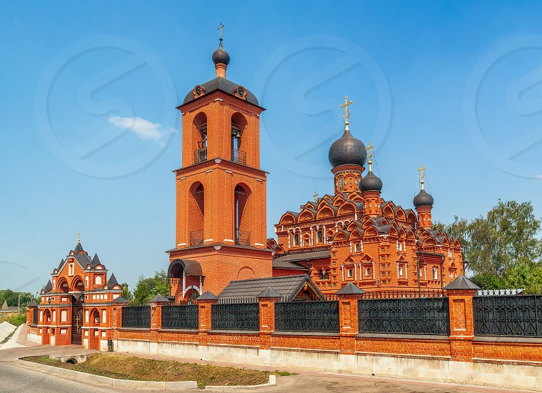 Church of the Kazan Icon of the Mother of God in village of Markovo. Moscow region. Russia photo