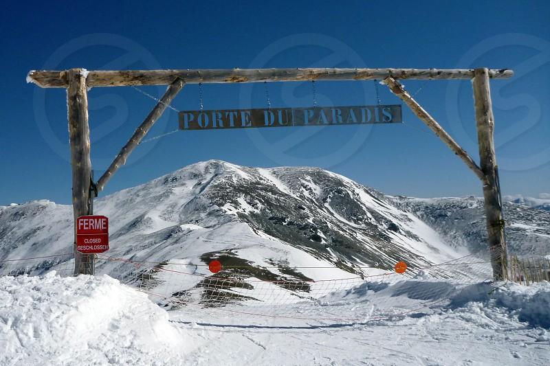 """""""Porte du paradis"""" = """"paradise gate"""" Puigmal mountain Pyrenees photo"""
