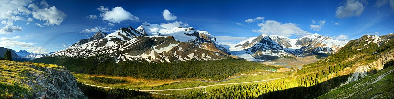 The Icefield Parkway in Jasper National Park Alberta Canada photo
