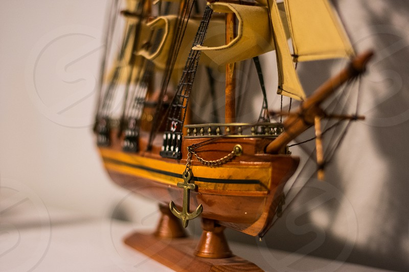 Wooden Model Ship photo