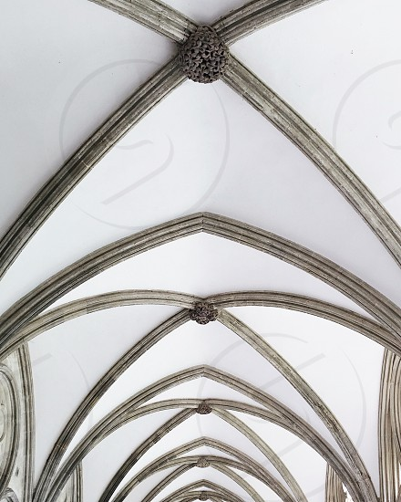 Minimal cathedral cloister look up Salisbury photo