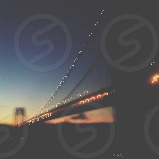 night light bridge view photo