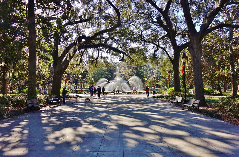 Forsyth Park in Savannah Georgia photo