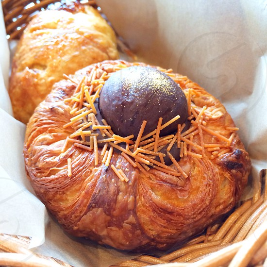 Chocolate and chestnut croissant from Hakone Japan photo