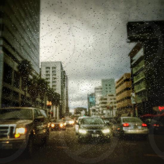 Rain in LA photo