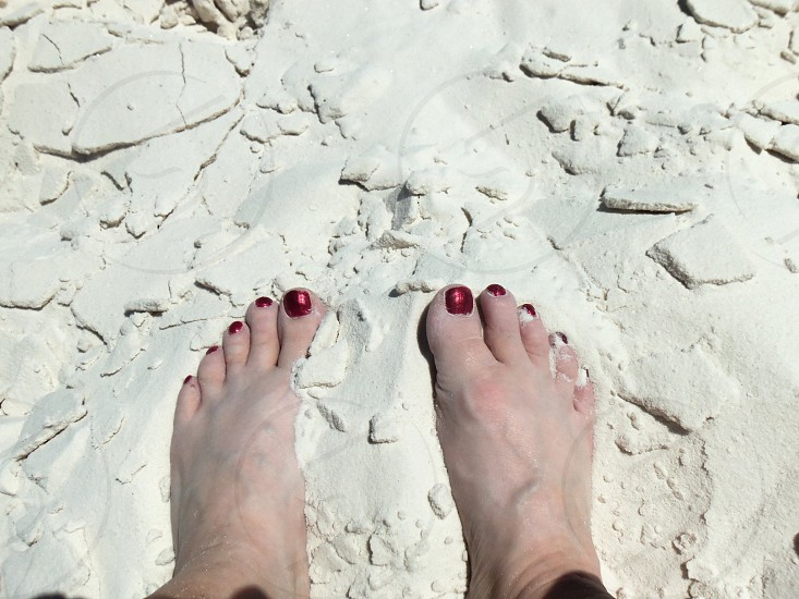 Toes in the sand-White Sands NM photo