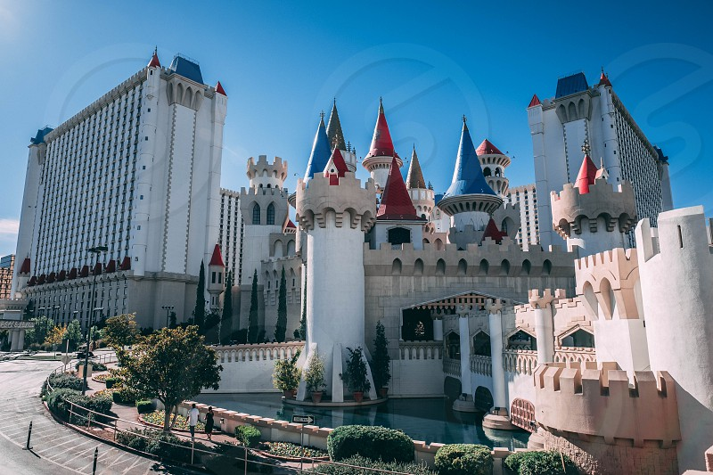 This is a photograph of the Excalibur Hotel & Casino on the Las Vegas Strip in Clark County Nevada. photo