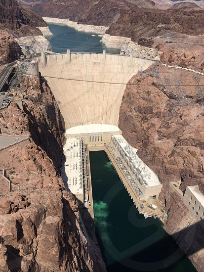 Hoover Dam in the Colorado River  photo