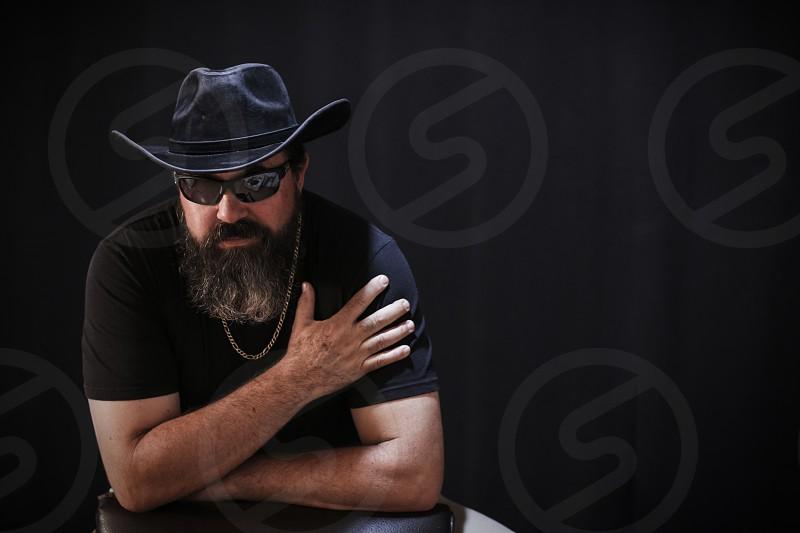 rough man with beard photo