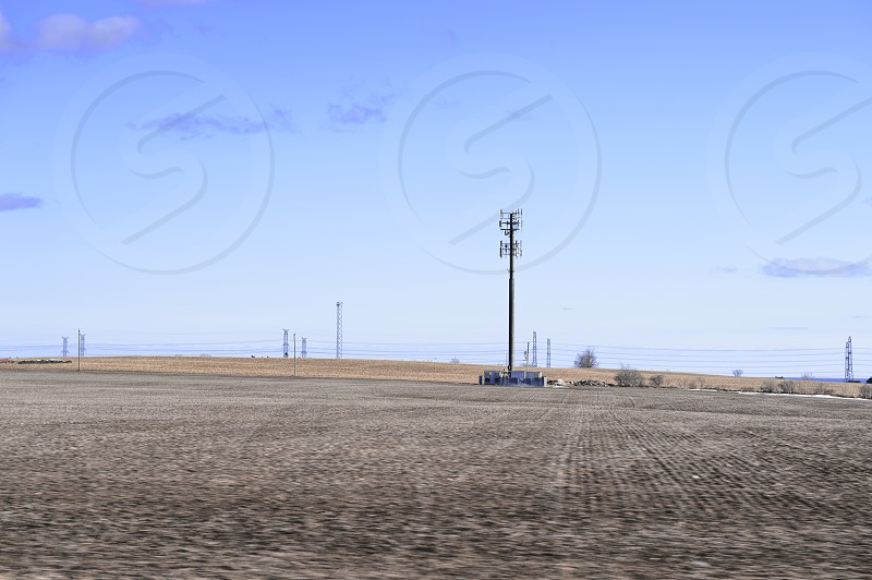 Rural Telecommunications (Cell Tower in Farmers Field) photo