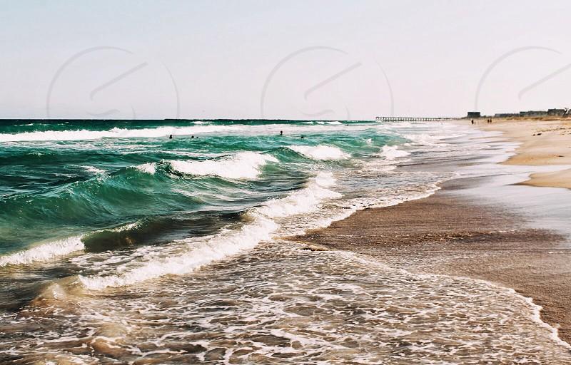 Ocean. Beach. Waves. photo