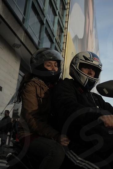 Moto couple photo