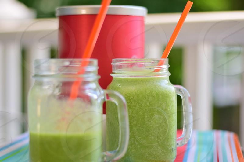Snacking on fruit & veggie smoothies photo