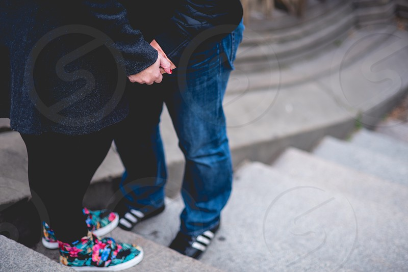 Lovely couple holding hands  photo