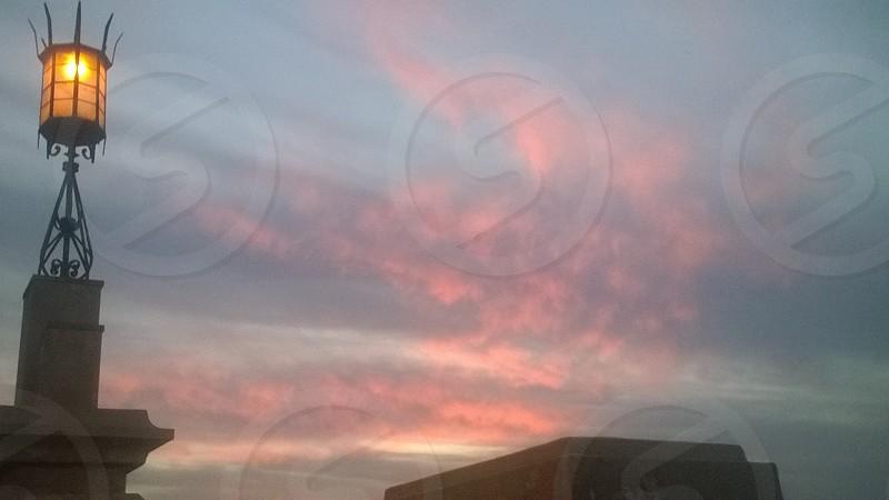 skylightsunsetdramagloryseaalexandriaegypt photo