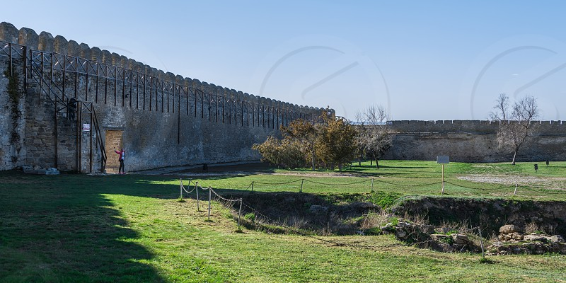 Akkerman Ukraine - 03.23.2019. Open Air Museum inside the Akkerman Citadel  a historical and architectural monument in Bilhorod-Dnistrovskyi photo