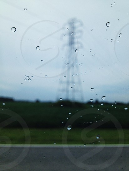 droplets on window photo