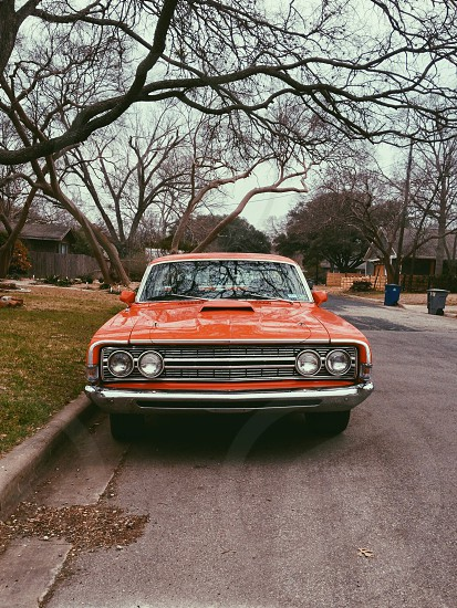 orange car photo