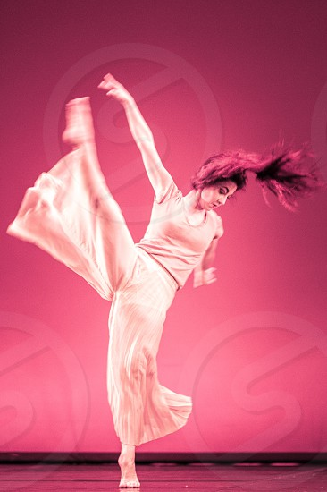 Modern Style Woman Dancer In Motion photo