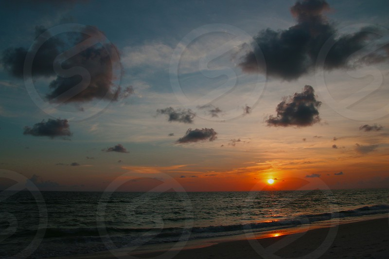 Sunset Beach Ocean photo