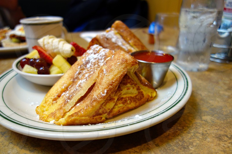 French toast for breakfast photo