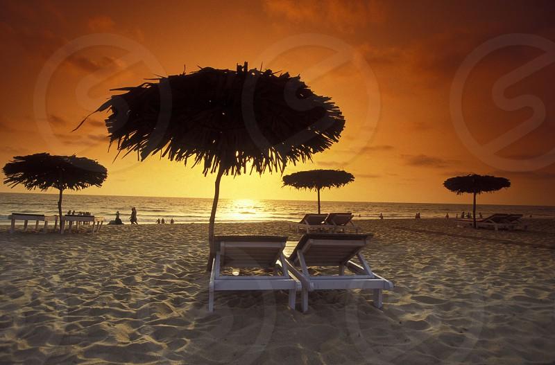 the beach of Anjuna in the Province Goa in India. photo