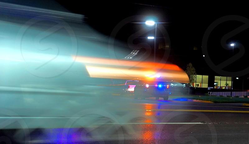 Ghost Speeding in Traffic photo