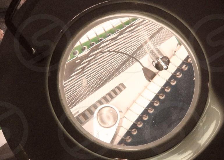 clear round glass window  photo