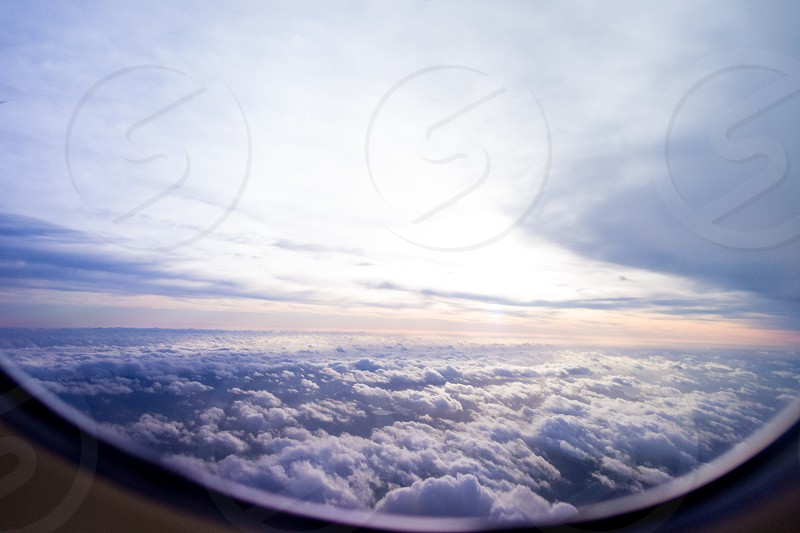 View from the airplane window photo