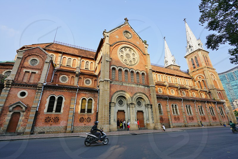 The Saigon Notre-Dame Basilica cathedral in Saigon Ho Chi Minh City Vietnam photo