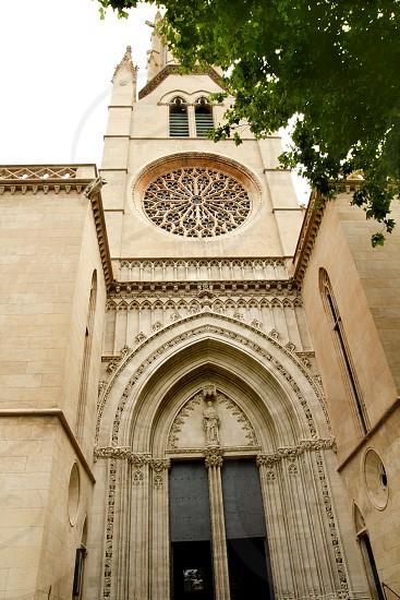 church of Santa Eulalia Majorca in Palma de Mallorca Balearic island spain photo